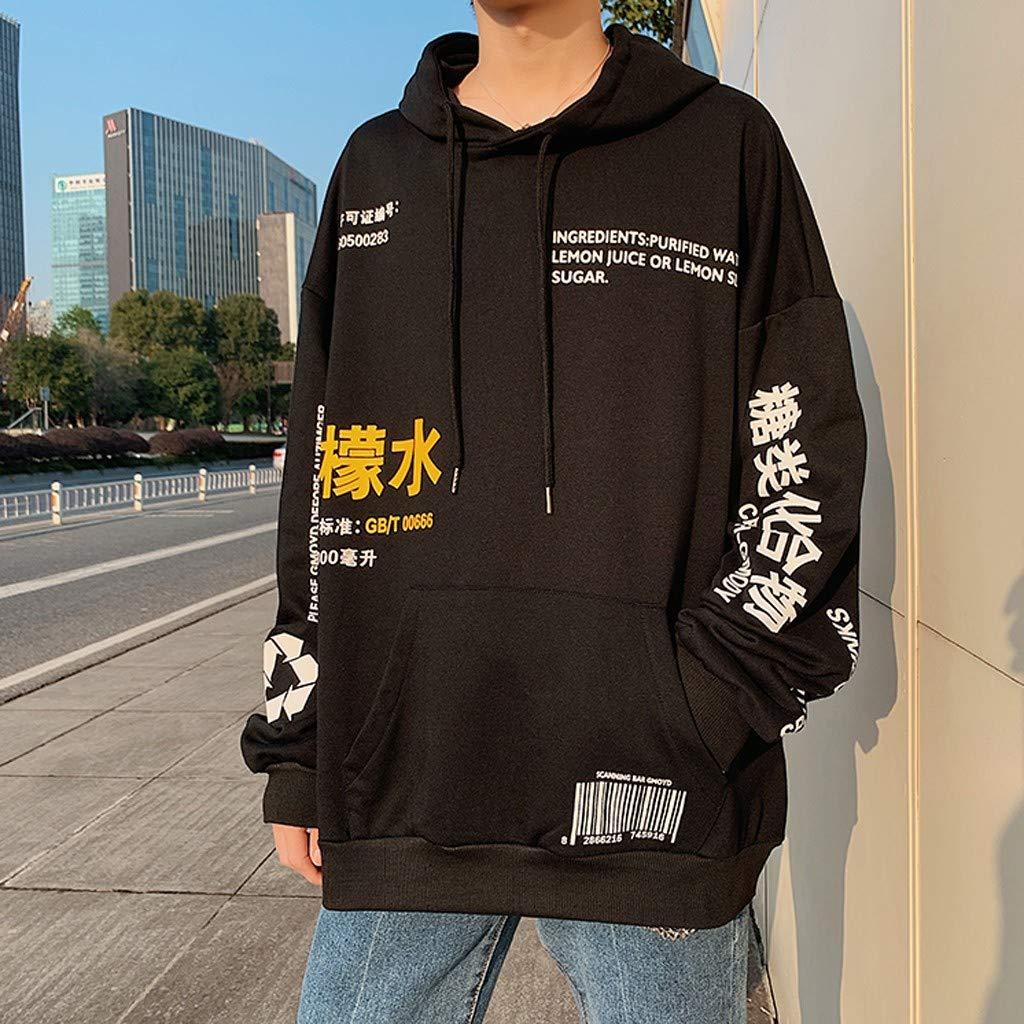 Men Hoodie Sweatshirts Plus Size Letter Printed Long Sleeve Hooded Tops Spring Autumn Hoody Shirt Blouse M-5XL