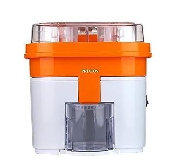 PRIXTON Exprimidor de Naranjas Eléctrico con Doble Cabezal