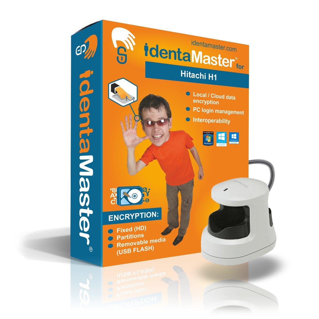 Hitachi H1 Finger Vein Reader with IdentaMaster Biometric Software (bundle) - Encryption, PC Login for Windows 7/8
