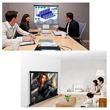 V40 4: 3 cine en casa Portable Proyección Lienzo para proyector ...