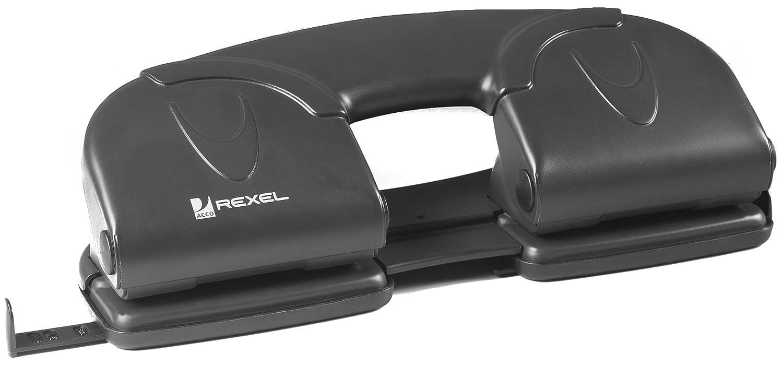 Rexel 08309 V412 Perforatore a 4 Fori, Nero ACCO Brands