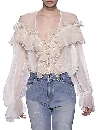 Sexy transparant shirt model photo