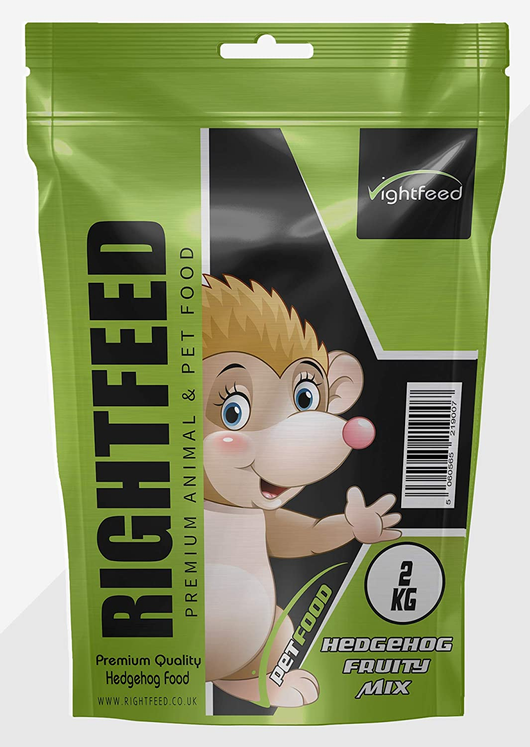 RightFeed Premium Hedgehog Food in FRUITY Mix (2KG)