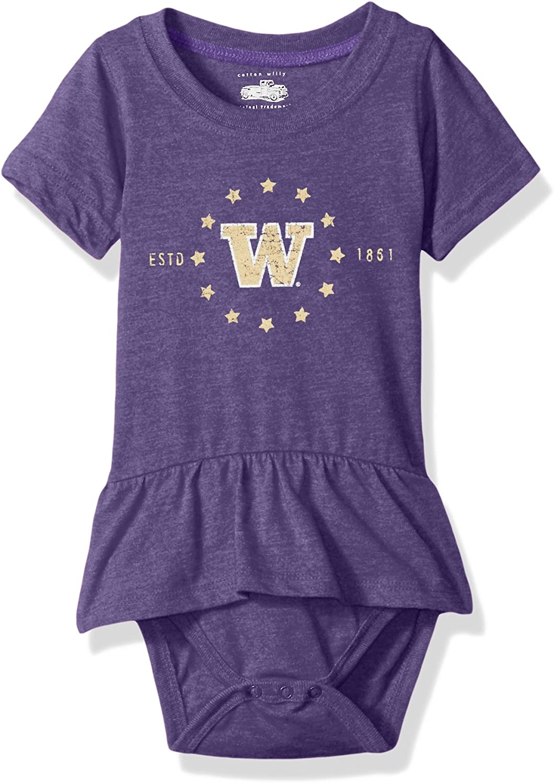 Cotton Willy NCAA Girls Short Sleeve Ruffle Hopper