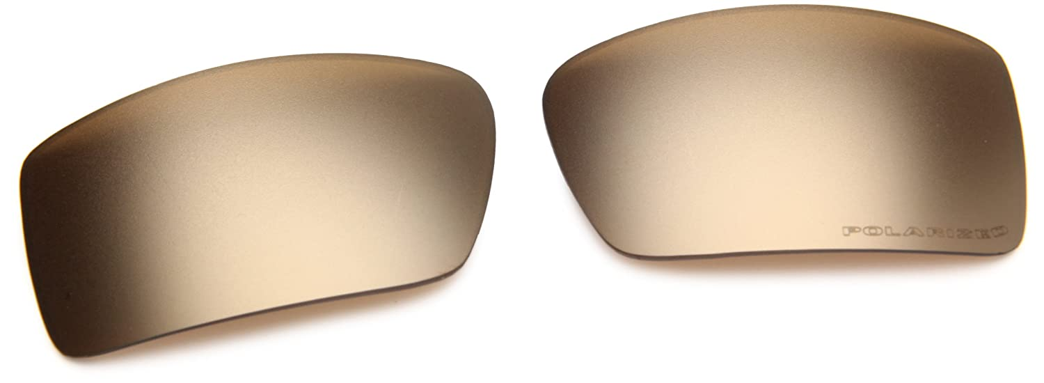 e5f3af6562b Amazon.com  Oakley GasCan Men s Replacement Lens Sunglass Accessories -  Gold Iridium Polarized One Size  Clothing