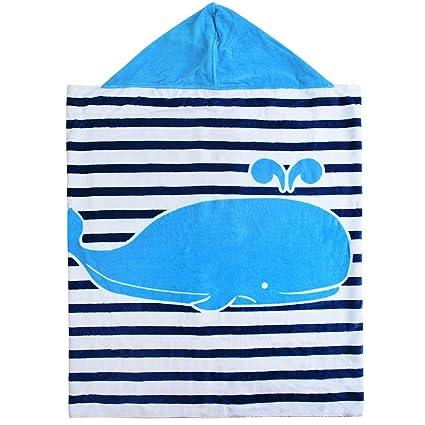 HIFUAR Toalla de Baño con Capucha de Algodón para bebé, Muy Suave, superabsorbente,