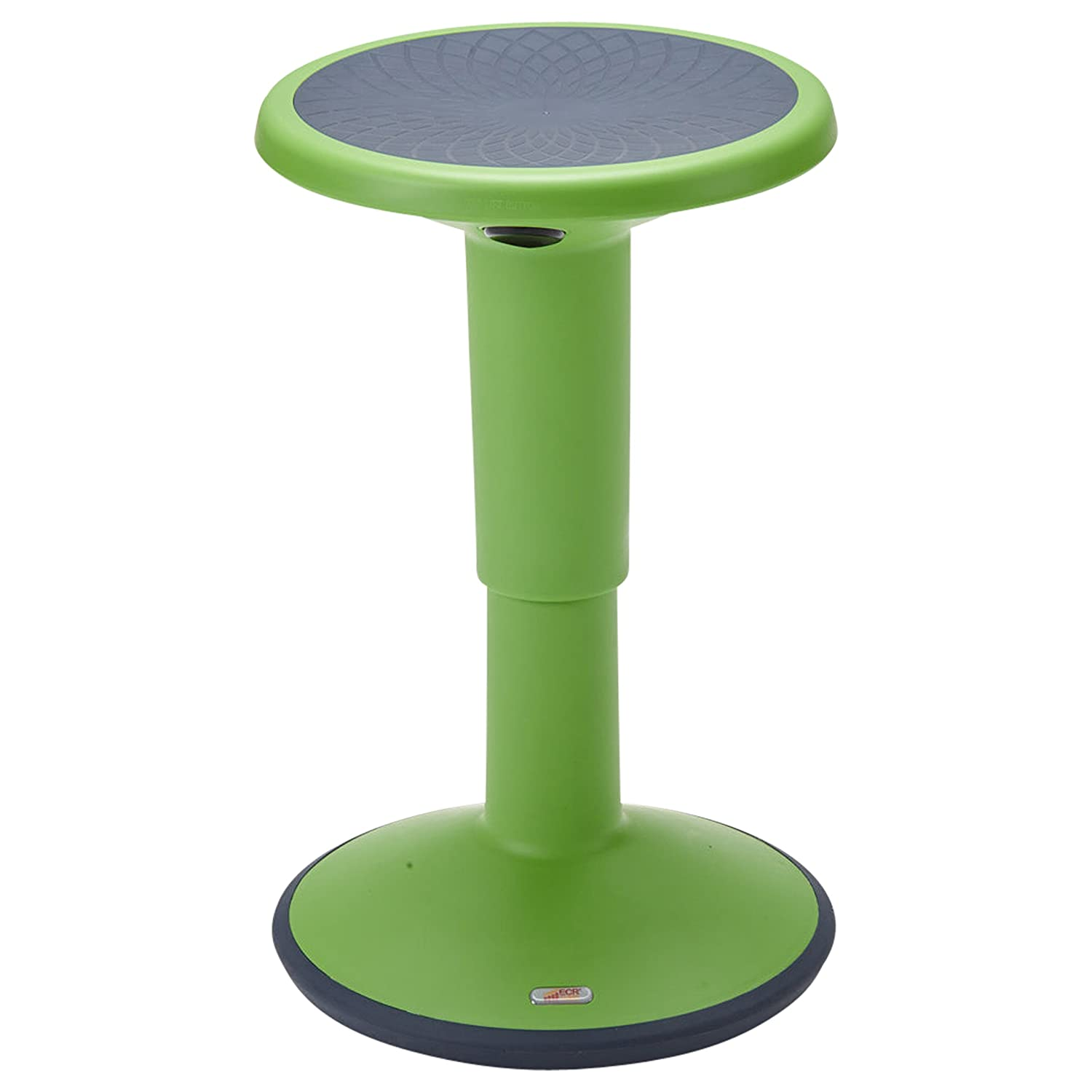 ECR4Kids SitWell Height-Adjustable Wobble Stool - Active Flexible Seating Chair for Kids and Adults - School and Office, Grassy Green