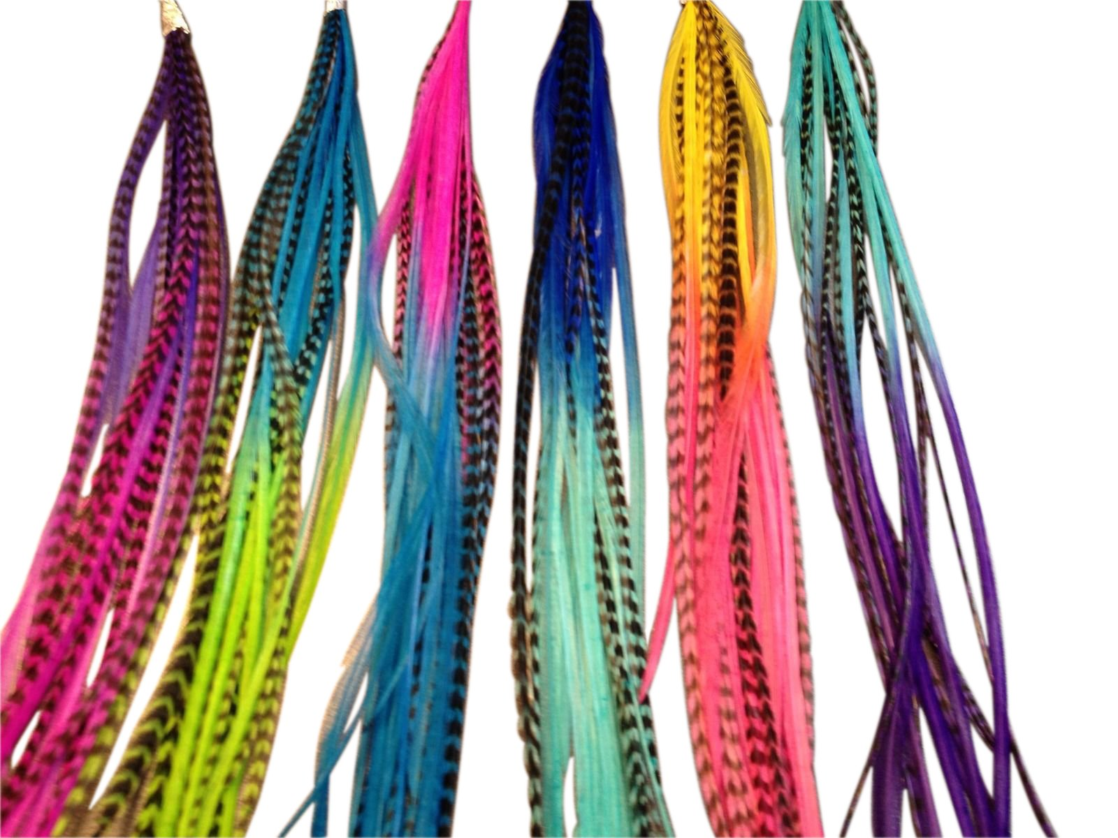 Feather Hair Extensions, 100% Real Rooster Feathers, 100 Long Thin Loose Individual Feathers, By Feather Lily by Feather Lily (Image #6)