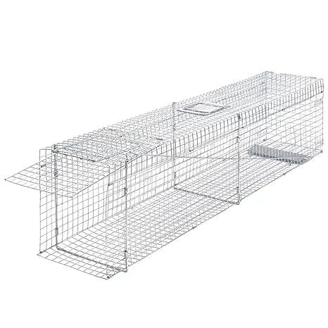 vidaXL Trampa galvanizada para capturar Animales Vivos 150 cm ...