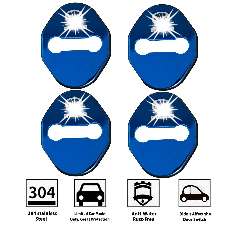 LFOTPP CX3 CX4 CX-5 2 3 6 Edelstahl Auto T/ürschlossabdeckung Door Lock Cover Zubeh/ör T/ürverriegelung Abdeckung Blau 4 St/ück