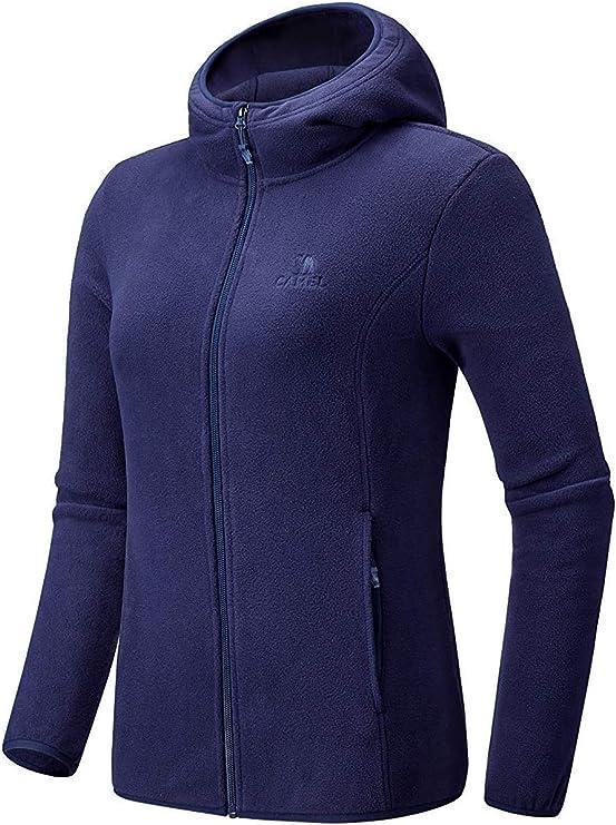 3X 4X Ladies Soft Jacket with Pockets Two Tone Warm Polar Fleece Women S-XL 2X