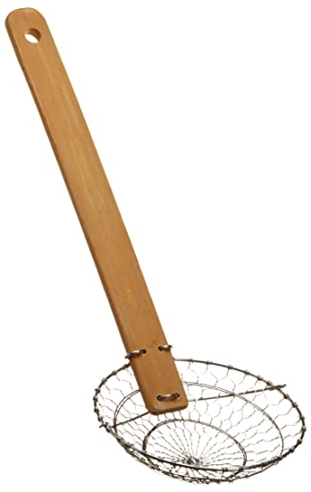Delightful Marpac Stainless Steel And Bamboo 4 1/2 Inch Skimmer/Spider