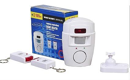 Tech Traders - Alarma con Sensor de Movimiento PIR sin Cables, Incluye 2 mandos a