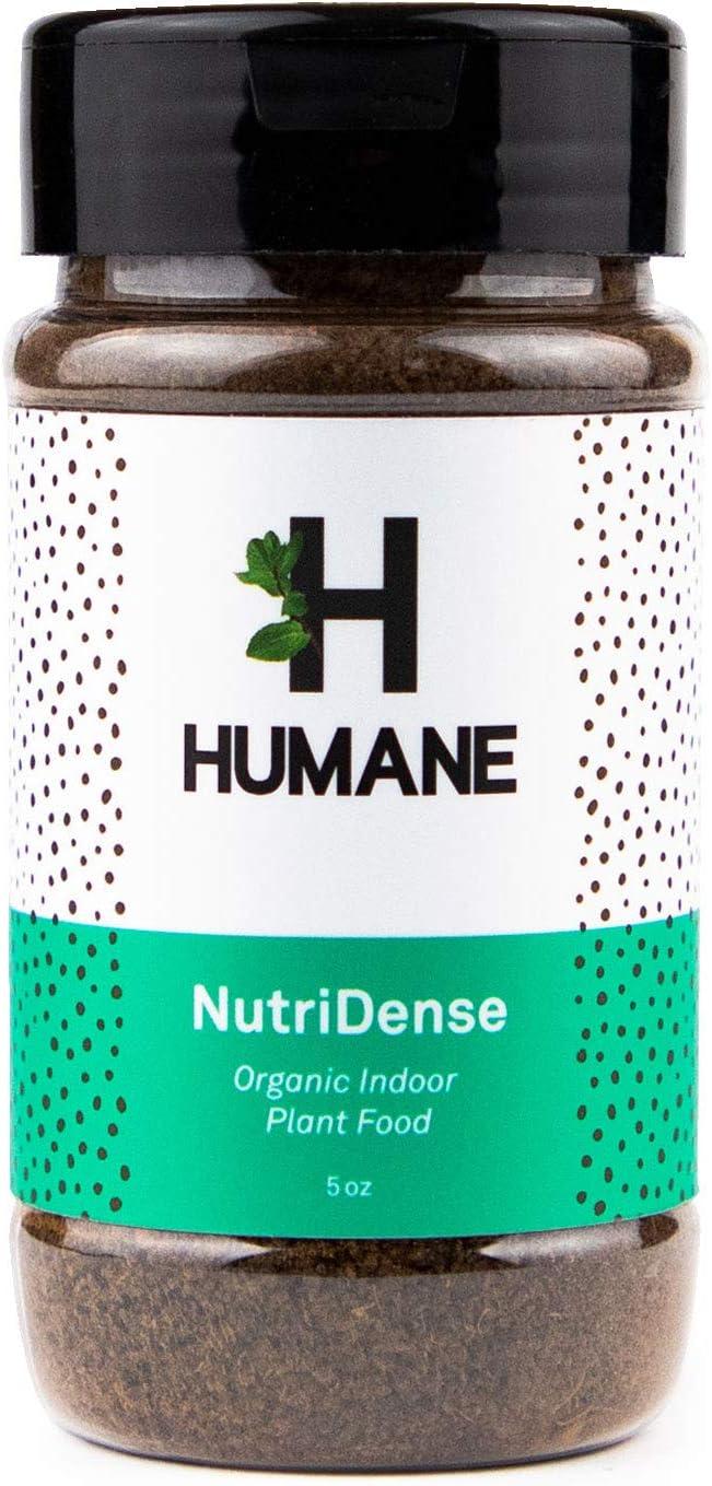 Indoor Plant Food, All-Purpose Organic Fertilizer in a Convenient Shaker, NutriDense (5oz) by Humane [NPK 6-4-3]