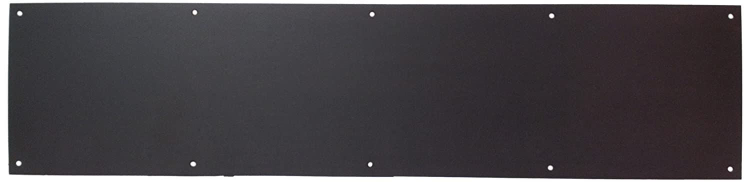 "Don-Jo 90 Metal Kick Plate, Oil Rubbed Bronze Finish, 34"" Width x 6"" Height, 3/64"" Thick"
