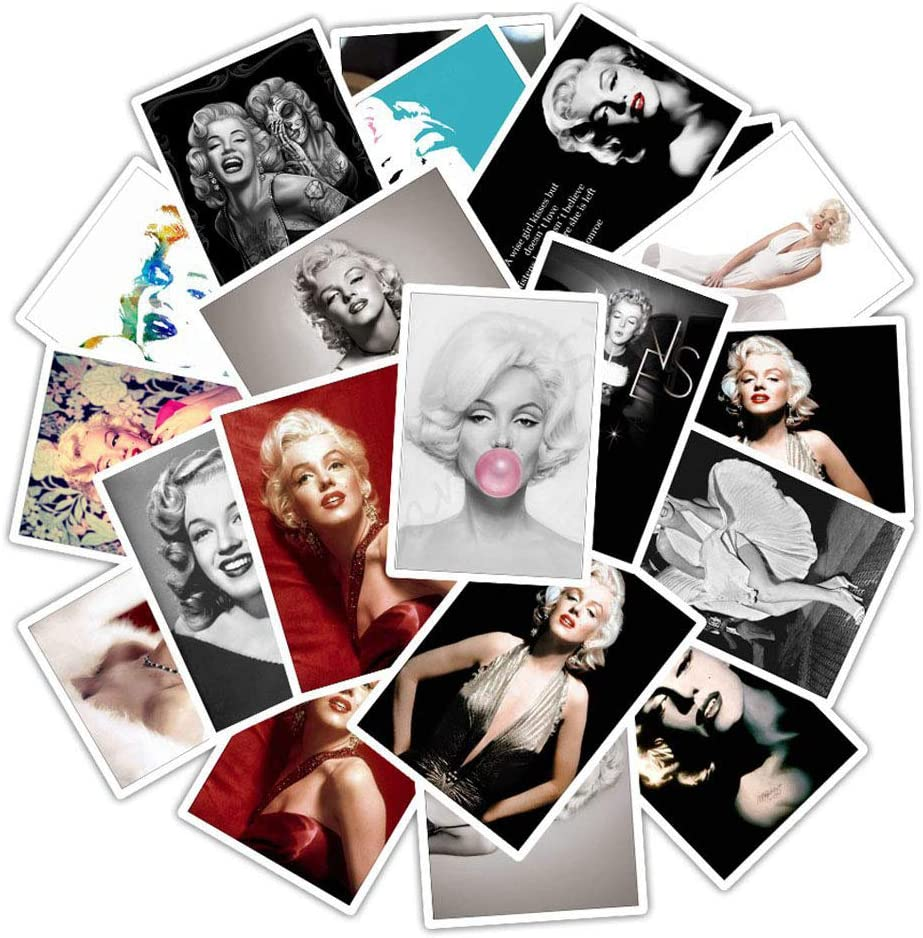 Great Actress Marilyn Monroe Stickers 25PCS for Laptop and Water Bottles,Waterproof Trendy Vinyl Decal Stickers Pack for Teens, Girls, Adult, Water Bottles, Computer, Travel Case (Marilyn Monroe)