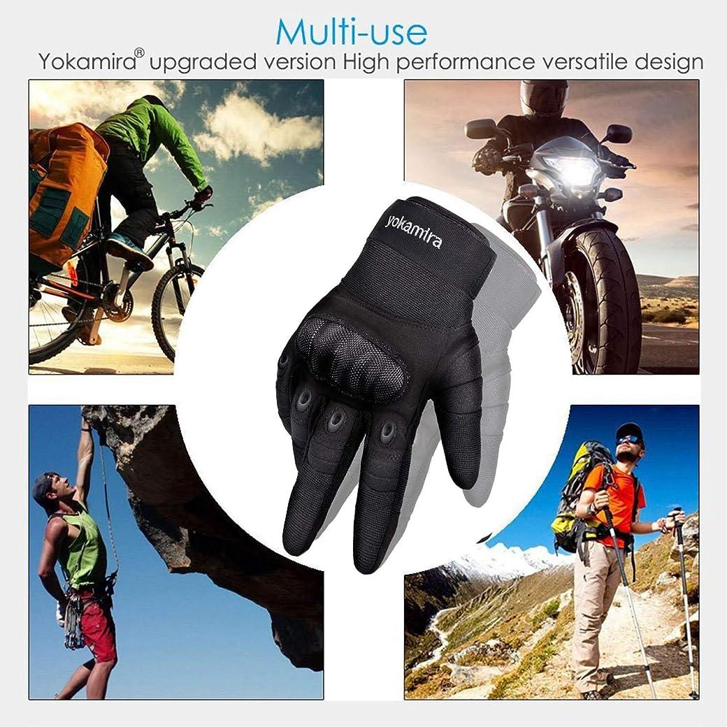 Yokamira Guantes de Moto Pantalla Táctil, Dedo Completo Anti-Deslizante Invierno Verano