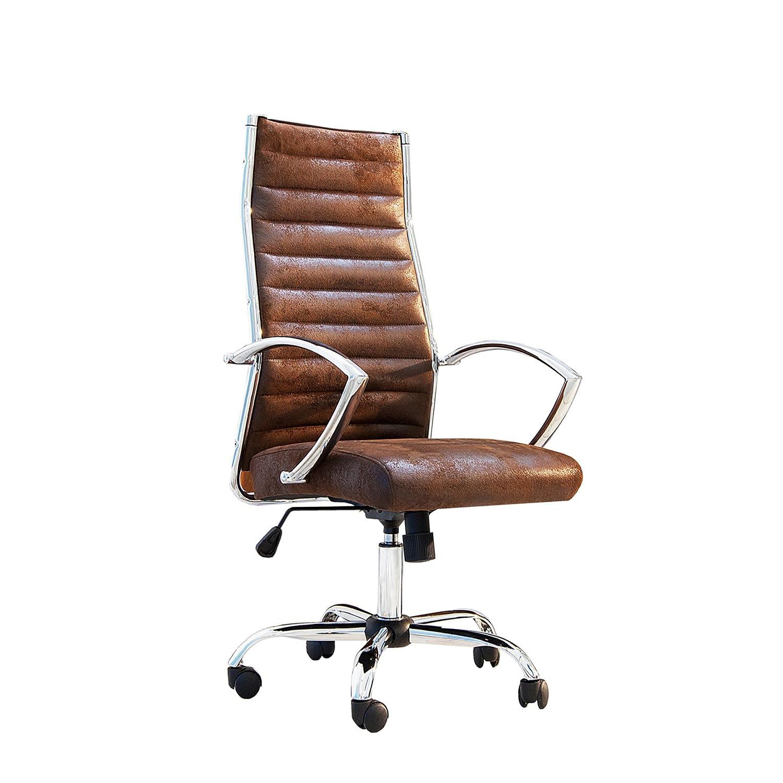 Bürostuhl design rollen  Moderner Design Bürostuhl LAZIO Highback Microfaser vintage braun ...