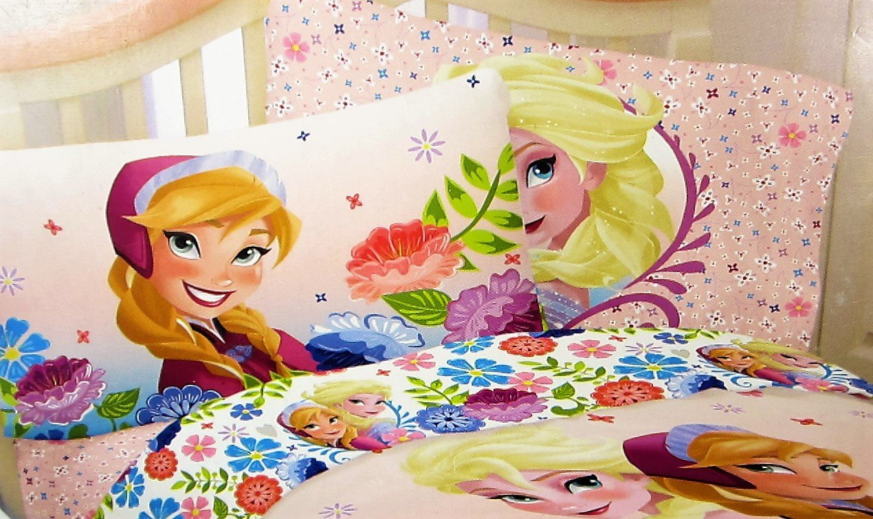 Frozen Floral Breeze 100% MIcrofiber (FITTED SHEET ONLY) Size FULL Girls Kids Bedding