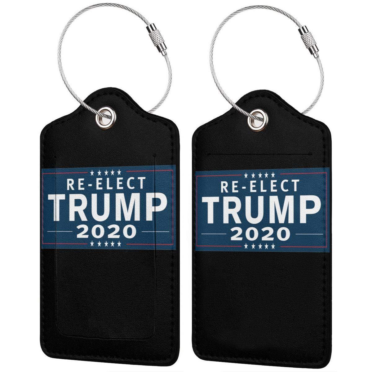 1pcs,2pcs,4pcs Trump 2020 Pu Leather Double Sides Print Luggage Tag Mutilple Packs