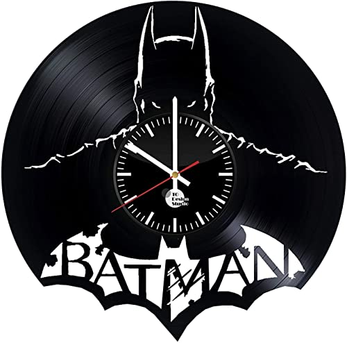 Batman Design Vinyl Record Wall Clock