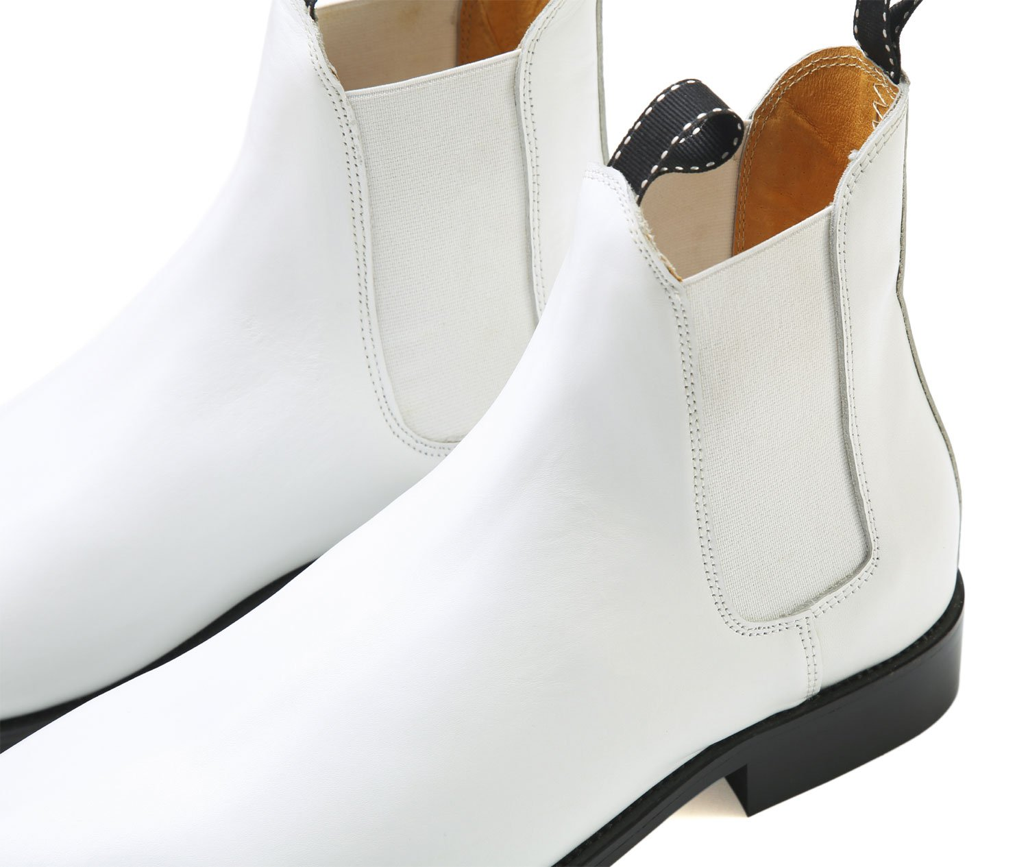 for a Stormtrooper Costume from UK White Real Leather Ankle Boots