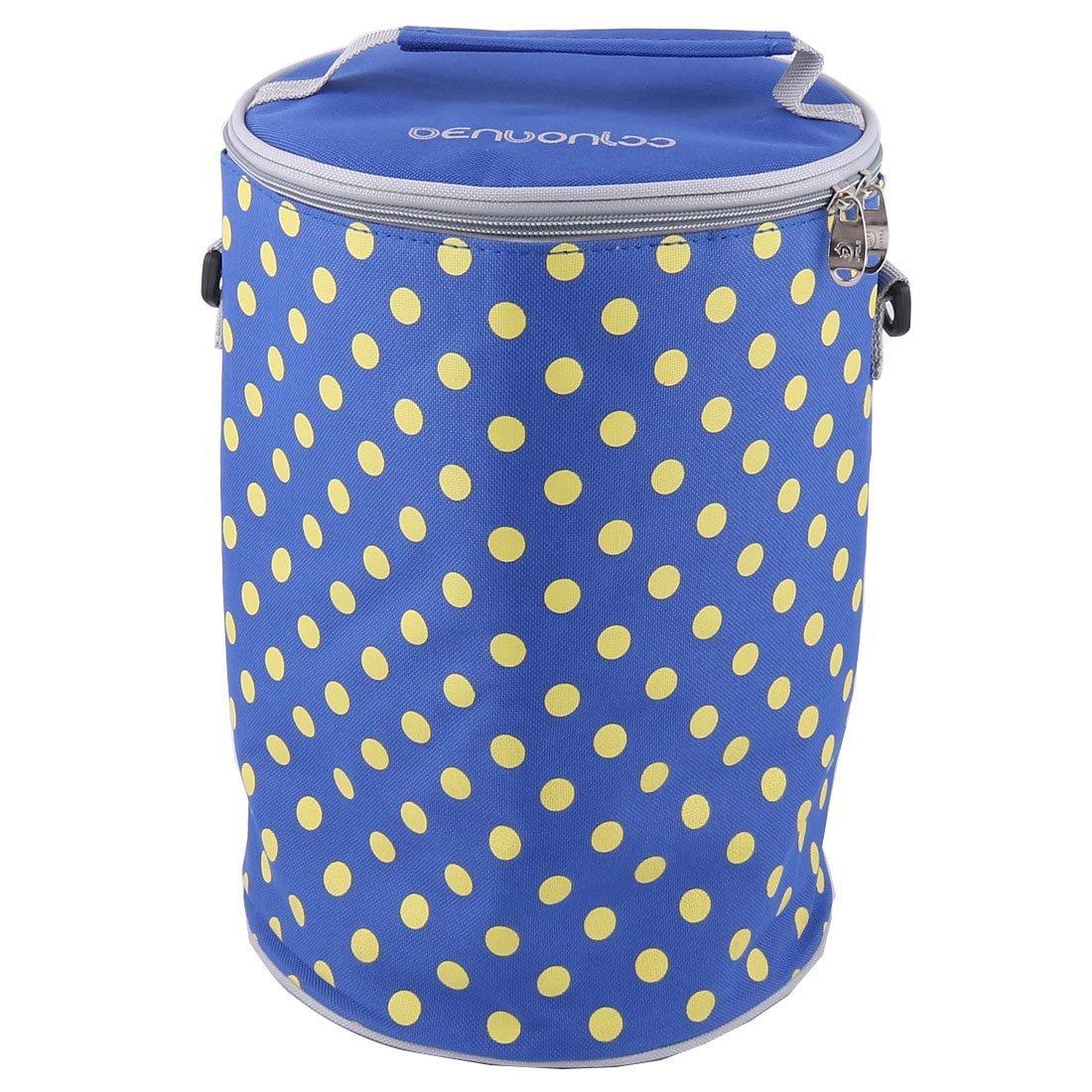Amazon.com: eDealMax Oxford Tela exterior punto de impresión de cierre de cremallera almuerzo calientaplatos del refrigerador del hielo titular bolsa azul ...