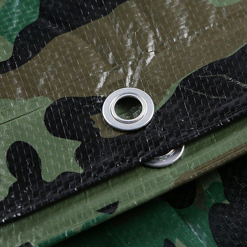 autorizzazione ufficiale WDXJ Telo Telo Telo coprisedile Camouflage Telo Impermeabile in plastica PE Telo Parasole Tendalino Isolato Tenda a Effetto Serra, 100 g m² (Dimensioni   4x5M)  Felice shopping