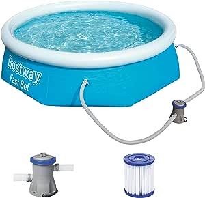 Bestway Fast Pool Set 244x66 cm, mit Filterpumpe Piscina (244 x 66 ...