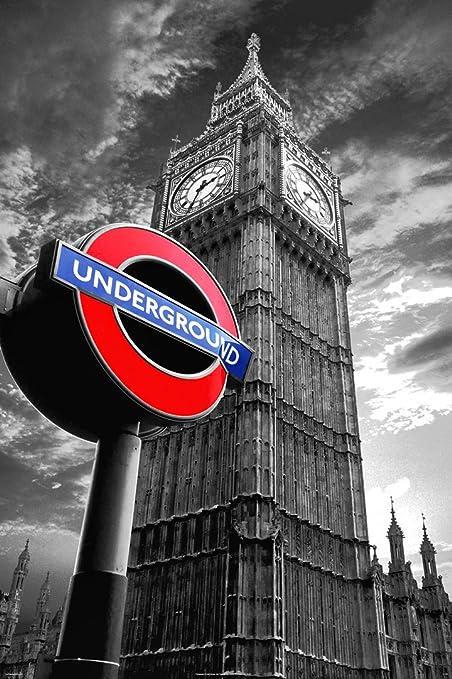 Enorme laminada/encapsulada Cartel del Metro de Londres Big ...