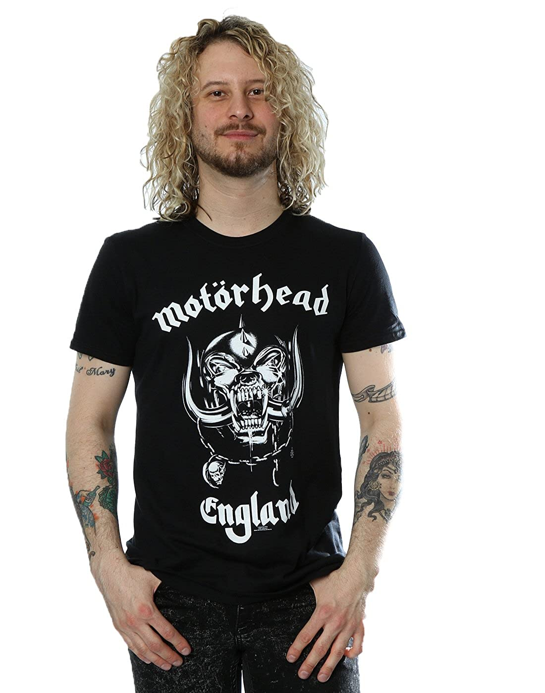 Motorhead Men's Everything Louder England T-Shirt X-Large Black Absolute Cult