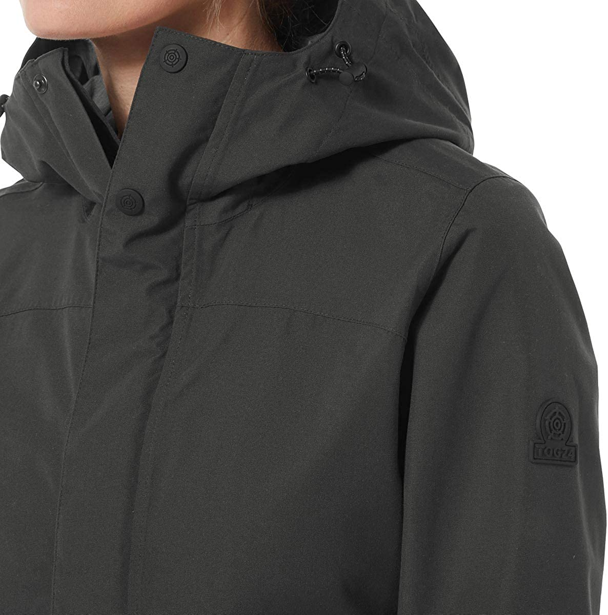 TOG 24 Dawson Womens Waterproof Jacket Styled as a Parka Coat with Cotton-Look Finish