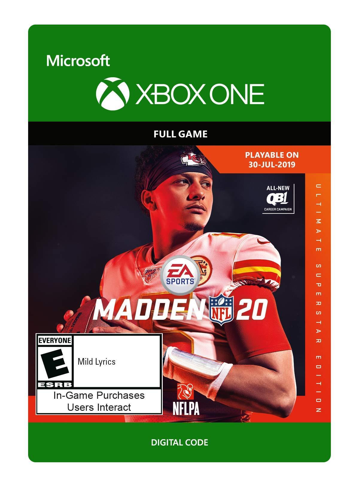 Madden NFL 20: Ultimate Superstar Edition [Xbox One Digital Code]