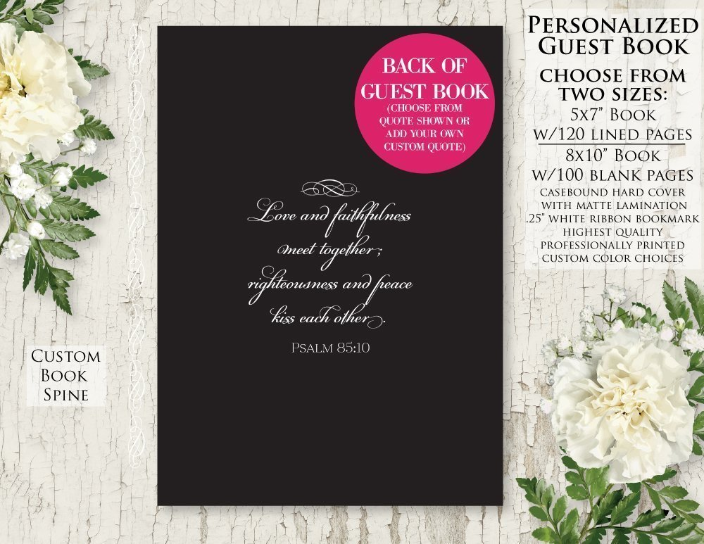 Amazon.com: Personalized Wedding Guestbook - Custom Wedding Guest ...