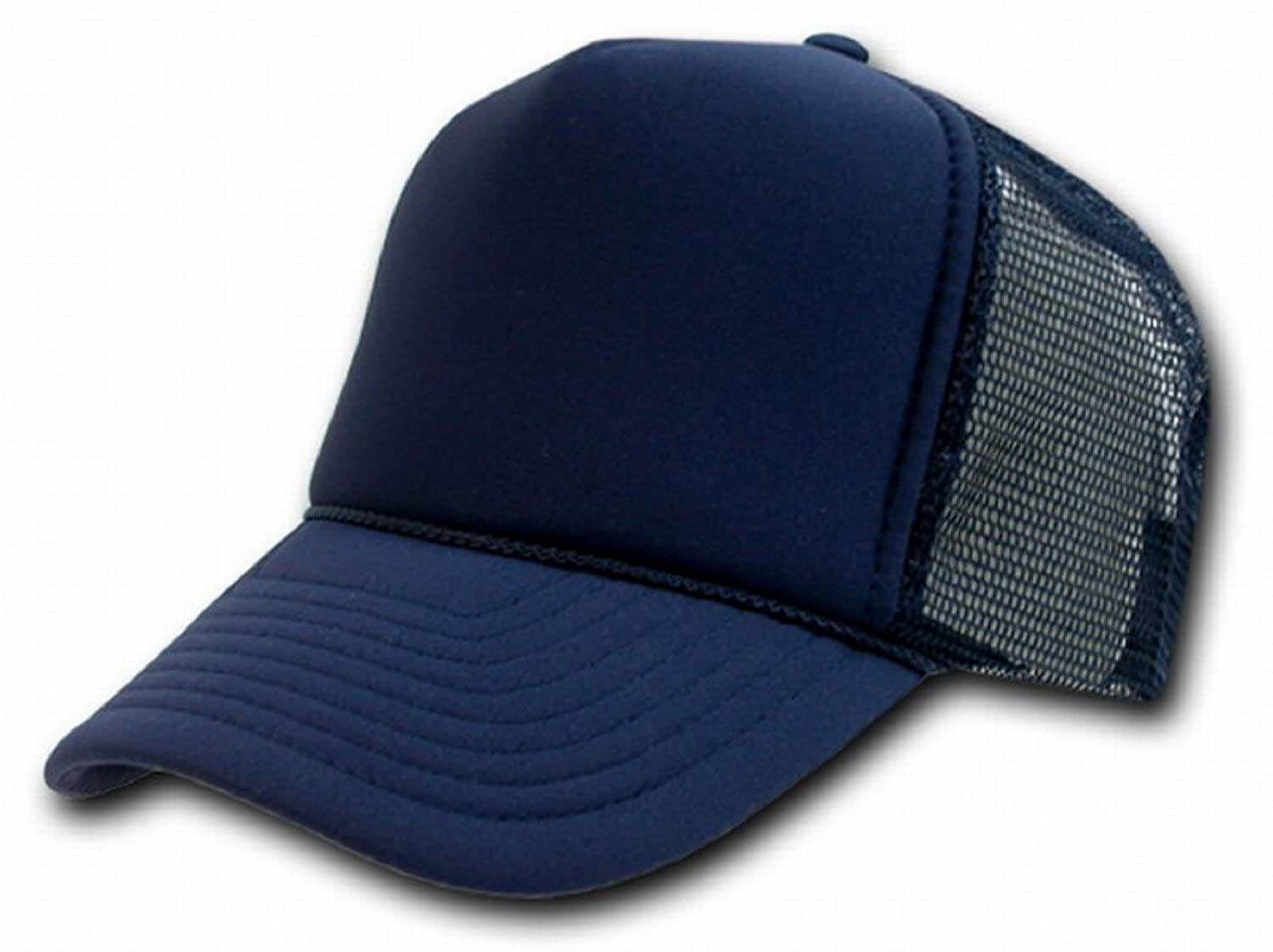 07848783cd05d NAVY BLUE MESH TRUCKER STYLE CAP HAT CAPS HATS ADJUSTABLE at Amazon Men s  Clothing store  Baseball Caps