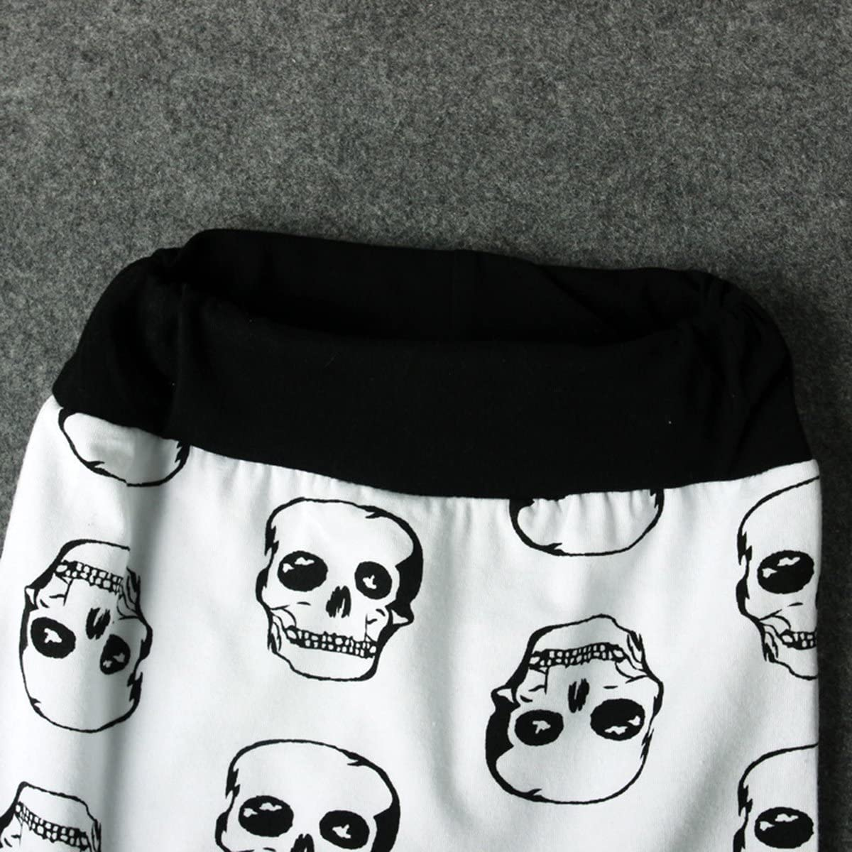 greatmtx Newborn Baby Boy Clothes Outfits Skull Print Romper+Pants Clothing Set for 0-24 Months