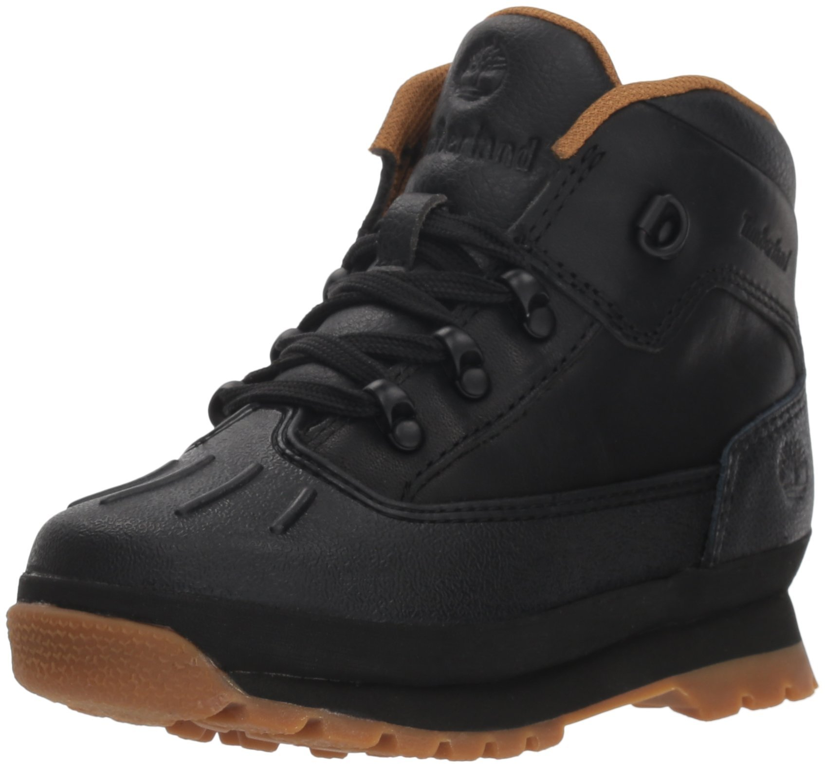 Timberland Baby Euro Hiker Shell Toe Fashion Boot, Black Full Grain, 10 Medium US Toddler