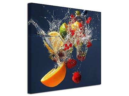 Declina Tableau Cadre Carré De Fruits Impression Sur Toile Décoration Murale Déco Maison Cuisine Salon Chambre Adulte Multicouleur 30x30 Cm