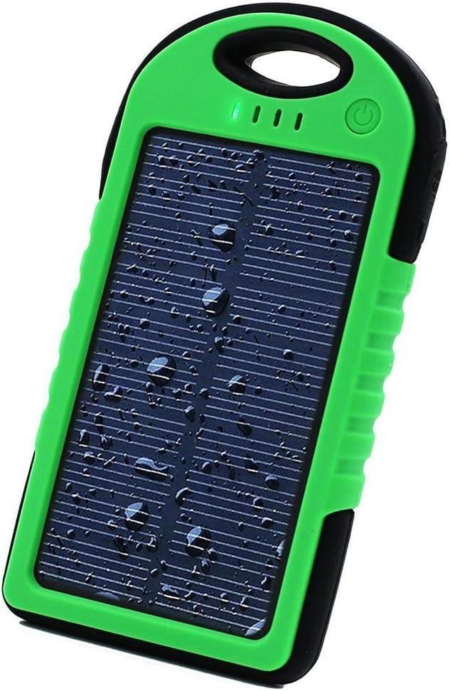 Cargador solar portátil Sunyounger™ de 5000 miliamperios/hora, resistente al agua, al polvo y a los golpes, de color amarillo: Amazon.es: Coche y moto