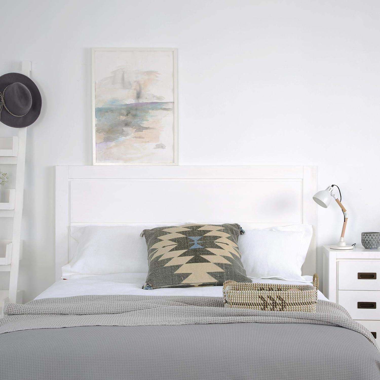 Legno 162x4x120 cm Kehra Testiera 150//160 Colore Bianco Winter