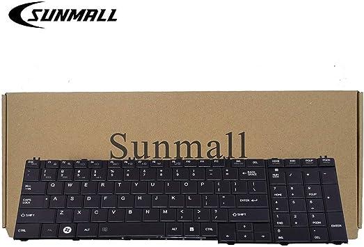 C655 Keyboard Compatible with Toshiba Satellite SUNMALL Keyboard Replacement Compatible with Toshiba Satellite C655 L655 C755 L755 Series Laptop