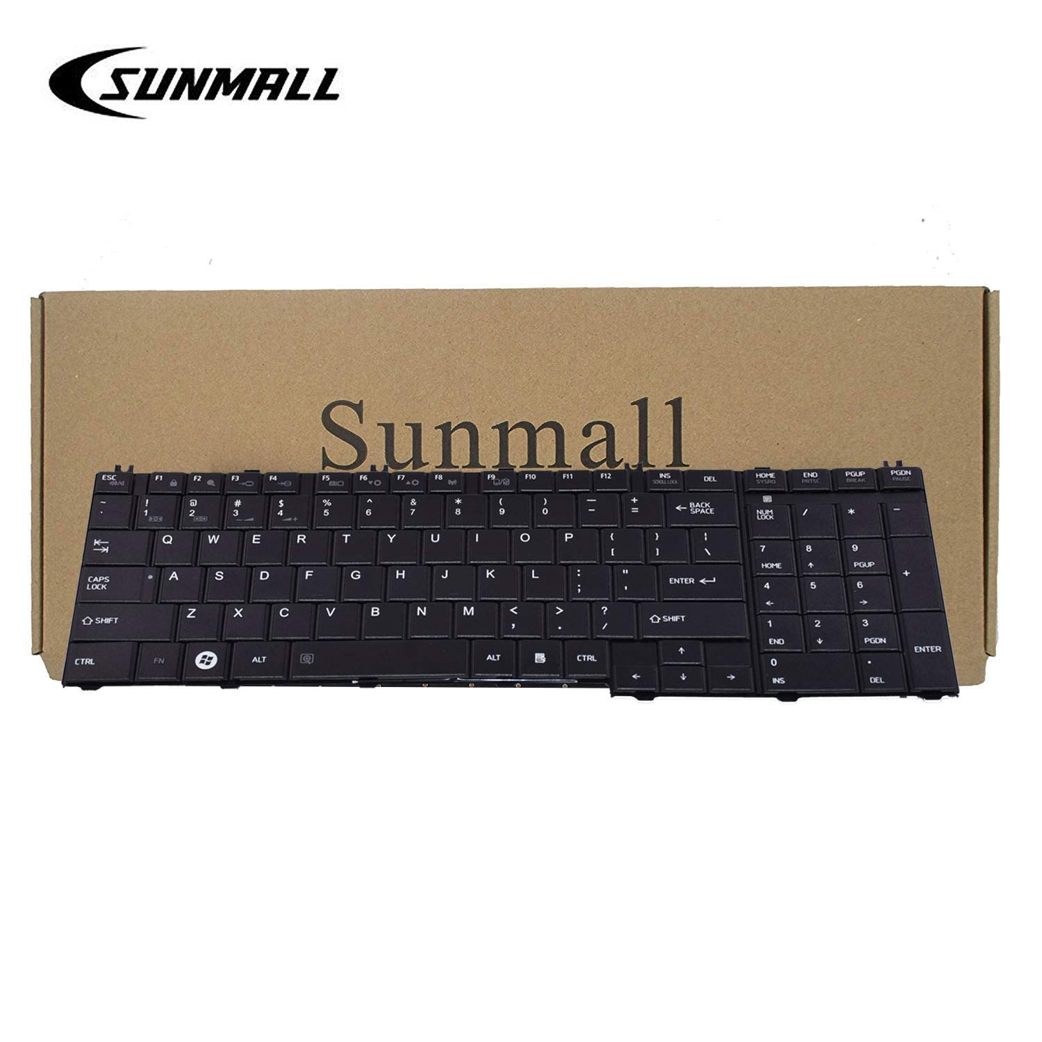 SUNMALL Keyboard Replacement Compatible with Toshiba Satellite C650 C650D C655 C655D C660 C660D C665 C665D L550 L550D L650 L650D L655 L655D L670 L670D L675 L675D L770 L750D L755 B350 Series Laptop