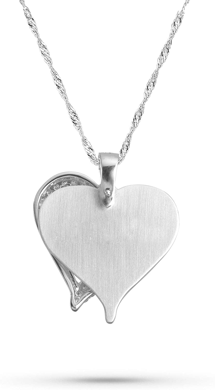 """Things Remembered Personalized Sterling Silver Initial /""""J/"""" Heart Necklace with Engraving Included"""
