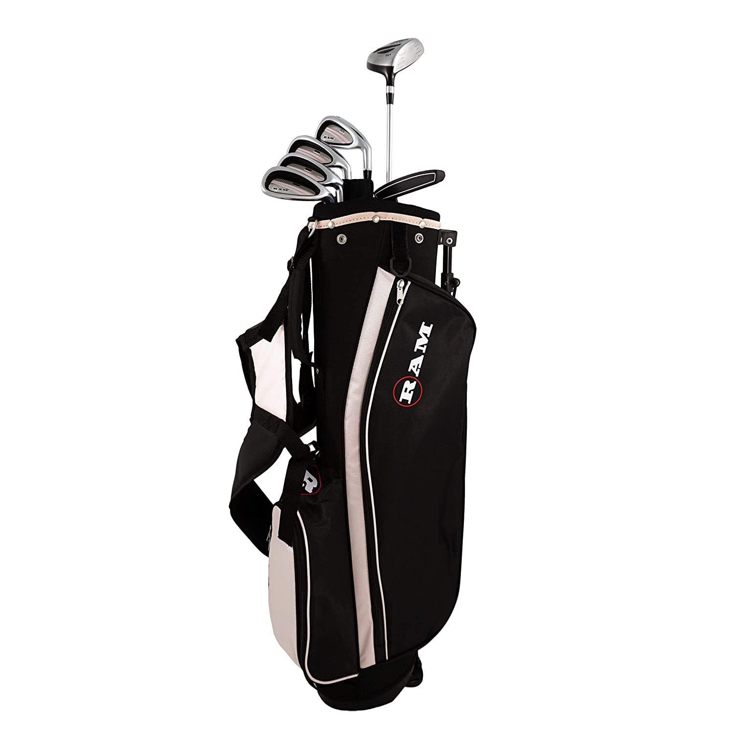 RAM Golf SGS Ladies Right Hand Golf Clubs Starter Set w Stand Bag -Steel Shafts