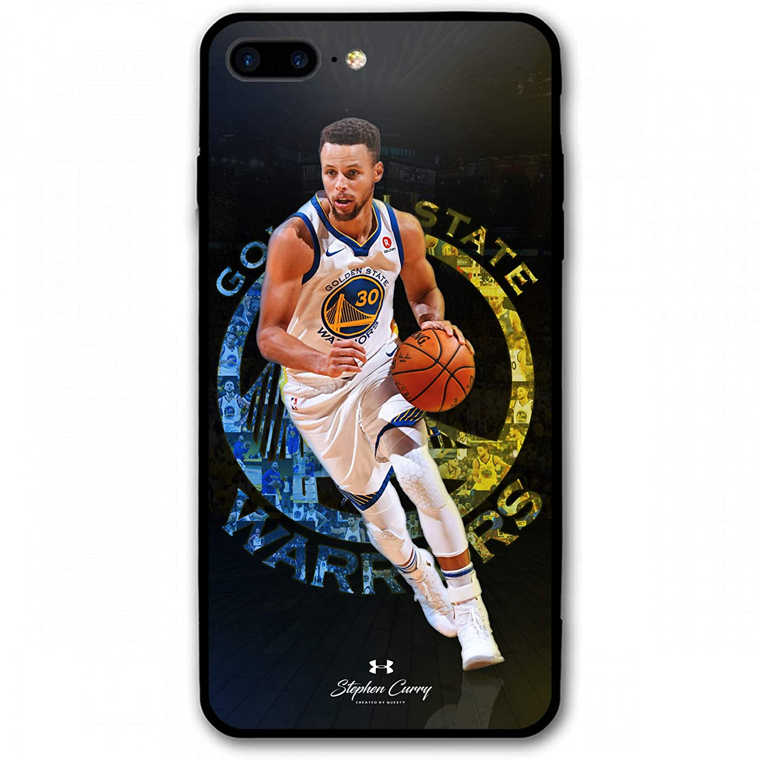 best service bab5d b31e7 iPhone 8 Plus Case,iPhone 7 Plus Case,Golden State Curry Fashion Protective  Shockproof Anti-Scratch Soft Bumper Case for iPhone 7/8 Plus (Golden State  ...