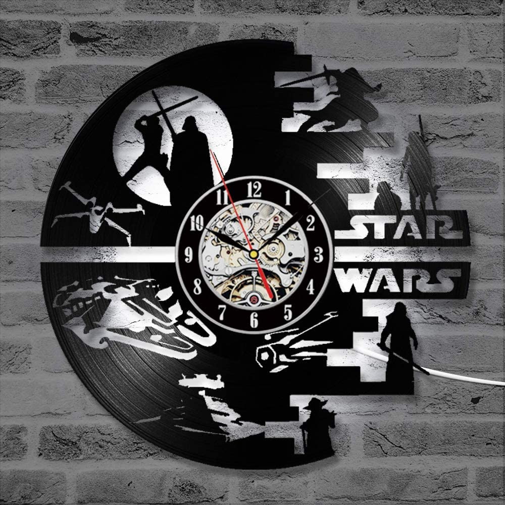 Horloge murale en plastique Star Wars Darth Vader