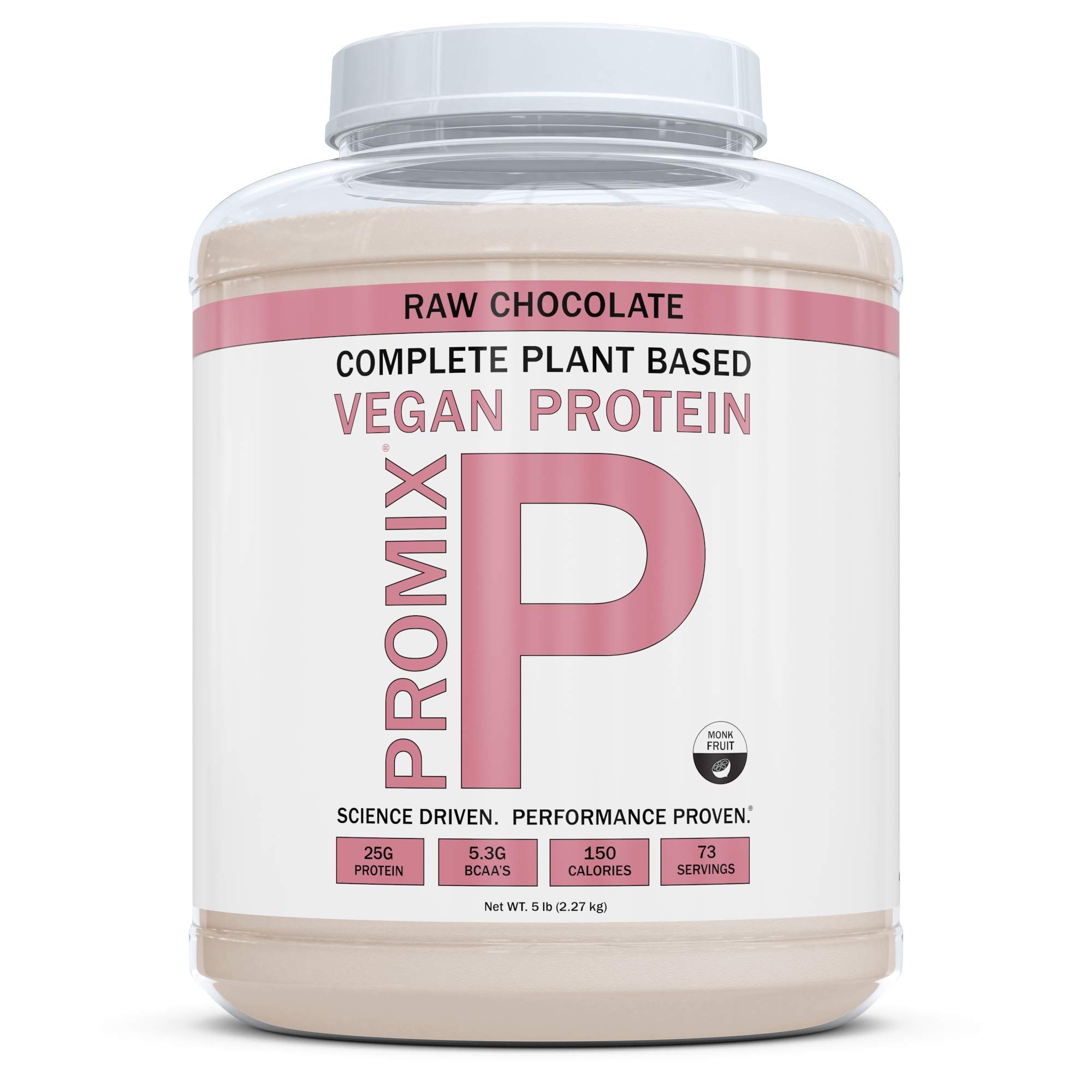 ProMix Nutrition Raw Chocolate Vegan Plant Based Protein Powder, 5 Pounds by ProMix Nutrition