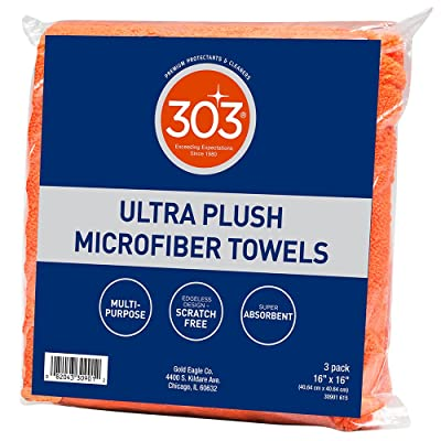 303 Products 30901 16x16 Ultra Plush Microfiber Towels , 3-Pack: Automotive