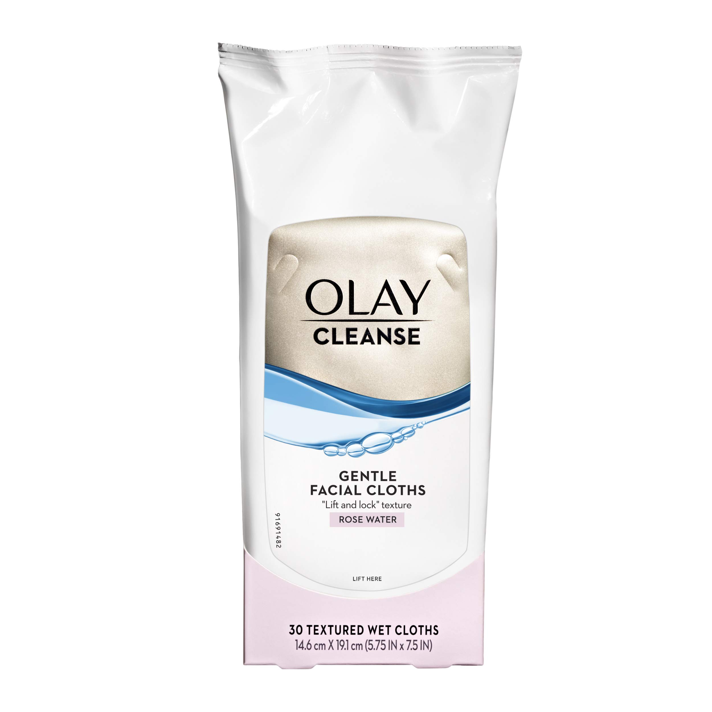 Makeup Remover Wipes by Olay Normal Wet Cleansing Cloths, 30-Count (Pack of 3)