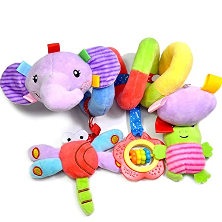 New Style Musical Insect Activity Toy Spiral Cot Car Seat//Stroller Infant Rattle